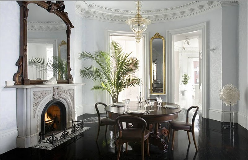 ebony wallpaper. A Room in the Manor.